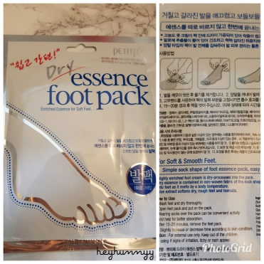 ::REVIEW:: Petitfée - Dry Essence Foot Pack!! heyhunnyy