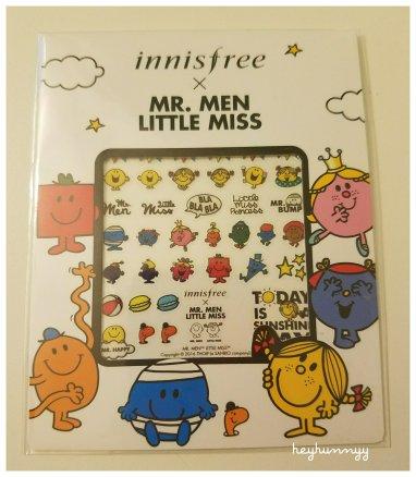 ::FRIYAY:: INNISFREE x MR. MEN LITTLE MISS NAIL STICKERS