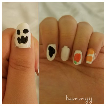 ::HALLOWEEN:: My Boyfriend Does My Nail Art