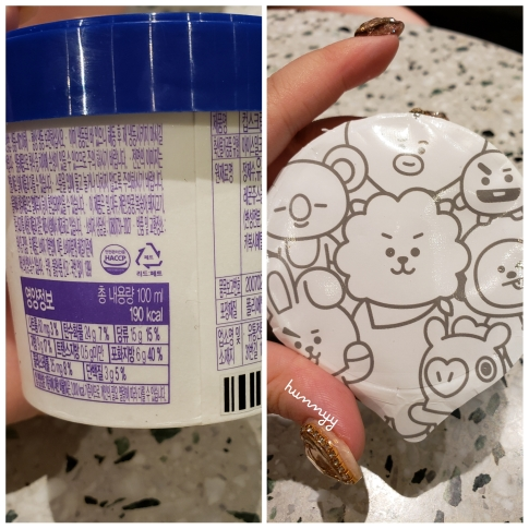 ::BTS Review:: BT21 Blueberry Ice Cream!