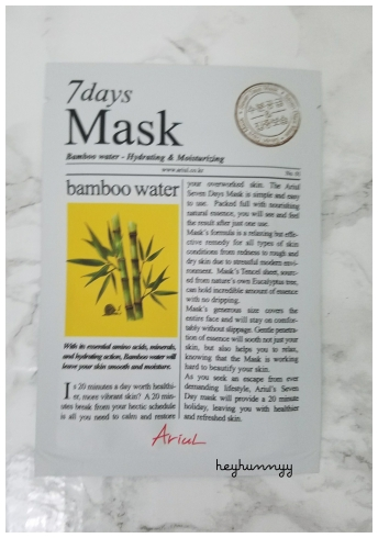 ::Review:: 7 Days Mask Babmboo Water!