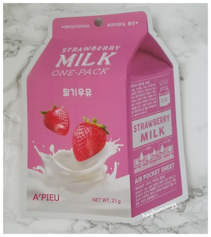 ::Review:: A'Pieu Strawberry Milk One-Pack Face Mask