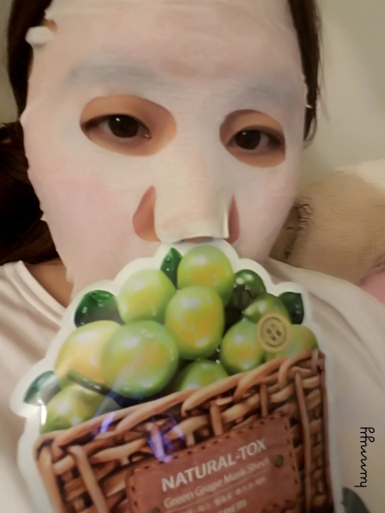 ::REVIEW:: The Saem Green Grape Mask Sheet! Natural Tox. Hunnyy