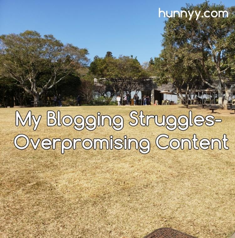 ::Blogging Problem:: Overpromising Content