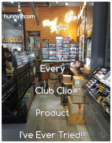 ::HunnyyIndex:: Every Single Club Clio Product I've Ever Tried!
