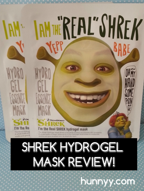 ::REVIEW:: Dreamworks Shrek Hydrogel Mask!