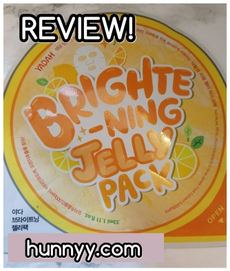 ::REVIEW:: Yadah Brightening Jelly Pack Sheet Mask!